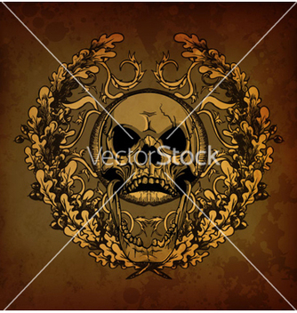 Free grunge floral frame with skull vector - Kostenloses vector #263095