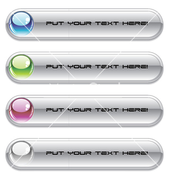 Free set of glossy buttons vector - Kostenloses vector #263235
