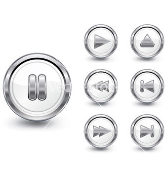 Free chrome buttons set vector - Free vector #263255