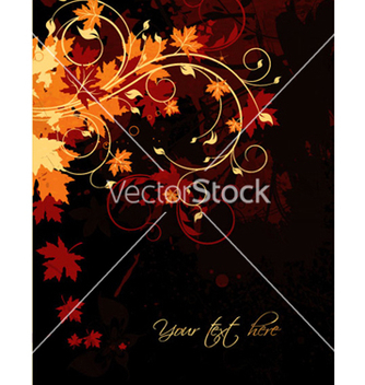 Free autumn floral background vector - Free vector #263265