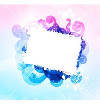 Free grunge frame with abstract background vector - vector gratuit #263315