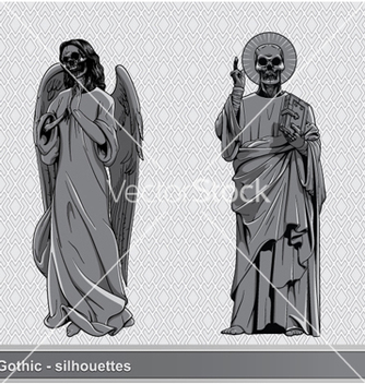 Free gothic silhouettes set vector - Kostenloses vector #263535