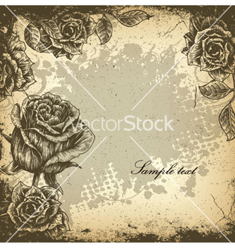 Free grunge floral background vector - vector #263545 gratis
