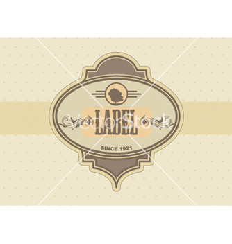 Free vintage label vector - бесплатный vector #263635