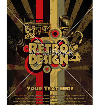 Free retro grunge concert poster vector - Free vector #263655