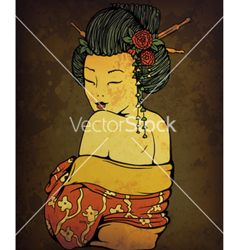 Free geisha on grunge background vector - Free vector #263725