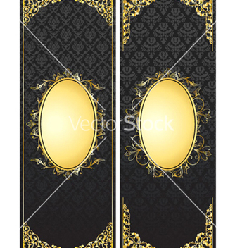 Free vintage gold banners set vector - Free vector #263905