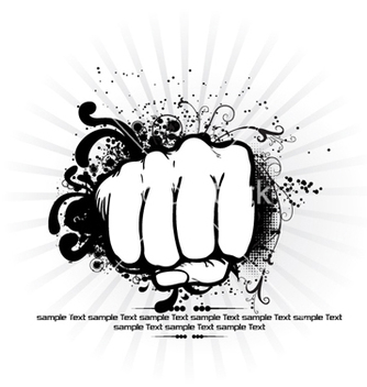 Free fist with rays background vector - Free vector #263935