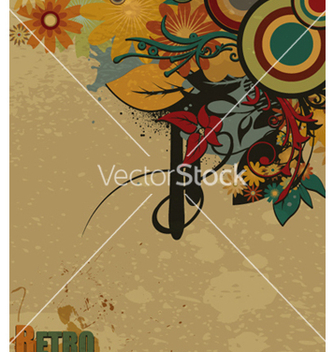 Free retro grunge background vector - Free vector #263975