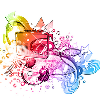 Free colorful music poster vector - vector gratuit #264205