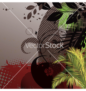 Free grunge summer floral background vector - Free vector #264335
