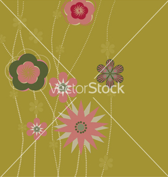 Free retro floral background vector - vector gratuit #264495