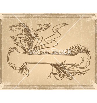 Free ribbon with floral vector - Kostenloses vector #264685