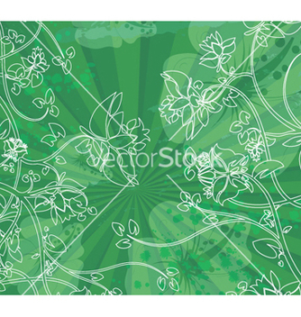 Free floral with grunge vector - vector #264775 gratis