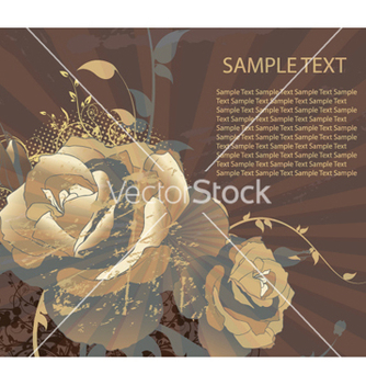 Free floral with grunge vector - vector #264805 gratis