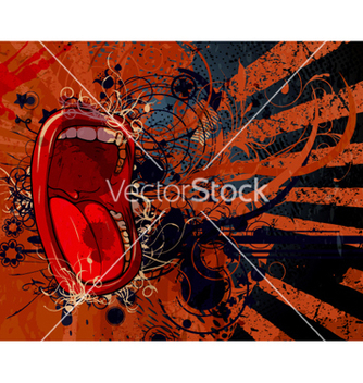Free screaming mouth with grunge background vector - vector gratuit #264815