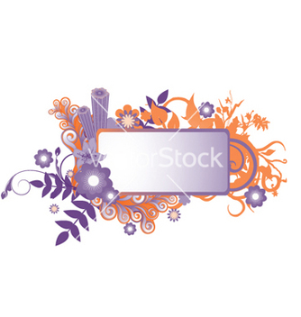 Free abstract floral frame vector - Free vector #265125