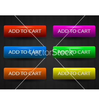 Free glossy add to cart buttons set vector - Free vector #265265