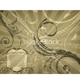 Free floral with rays background vector - vector #265415 gratis