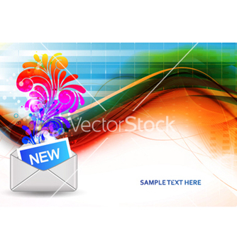 Free mail icon with swirls vector - бесплатный vector #265445