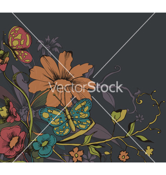Free retro floral background vector - vector gratuit #265545