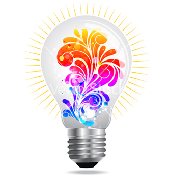 Free lightbulb with floral vector - vector gratuit #265555