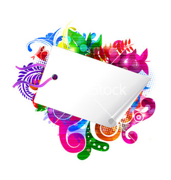 Free shopping tag with colorful floral vector - vector gratuit #265575