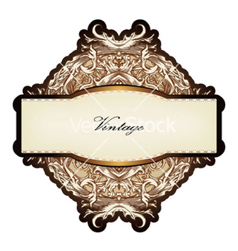 Free vintage label vector - бесплатный vector #265655