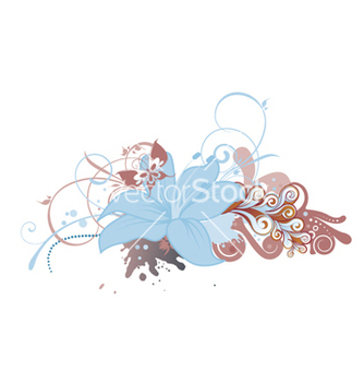 Free abstract floral design vector - Kostenloses vector #265705