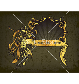 Free vintage gold frame vector - Kostenloses vector #265845