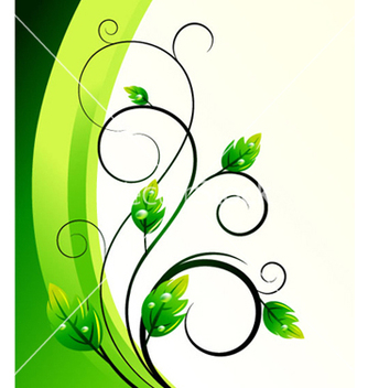 Free green floral background vector - Free vector #265915