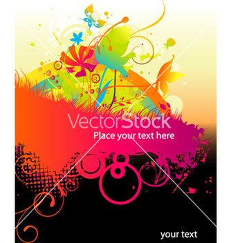 Free colorful grunge floral background vector - Free vector #266015