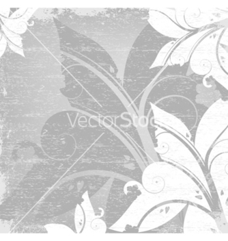 Free floral with grunge background vector - vector #266245 gratis