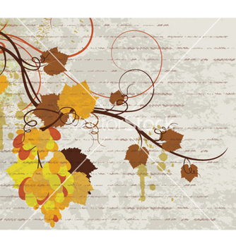 Free grunge autumn floral background vector - Free vector #266325