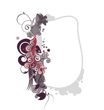 Free abstract floral frame vector - Free vector #266335