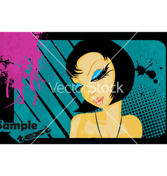 Free abstract girl vector - Free vector #266485