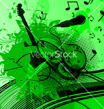 Free headphones with grunge background vector - Free vector #266495