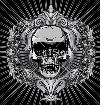 Free vintage design with skull vector - Free vector #266505