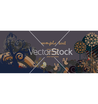 Free retro banner with floral vector - Free vector #266515