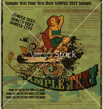 Free retro grunge poster vector - Free vector #266575