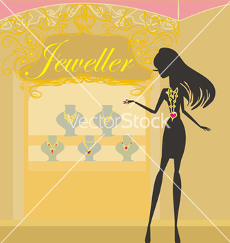 Free girl and jewellerys vector - бесплатный vector #266695