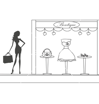 Free fashion girl shopping doodle vector - Kostenloses vector #266735