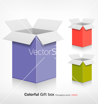 Free colorful gift box vector - Free vector #266765