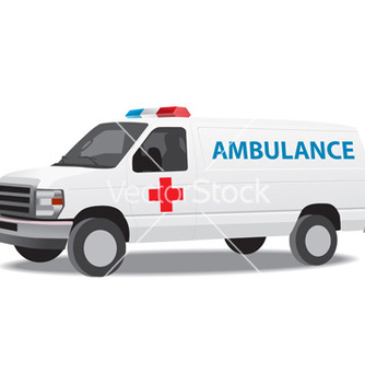 Free ambulance van vector - бесплатный vector #266775