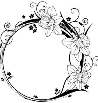 Free frame with flowers vector - vector gratuit #266825