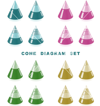 Free cone diagram set vector - vector gratuit #266935