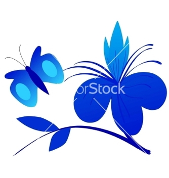 Free abstract composition with butterfly vector - бесплатный vector #267015