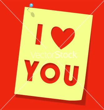 Free love you paper note vector - vector gratuit #267035