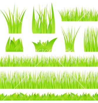 Free green grass vector - Free vector #267055