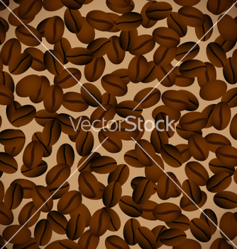 Free coffee beansseamless background vector - бесплатный vector #267075